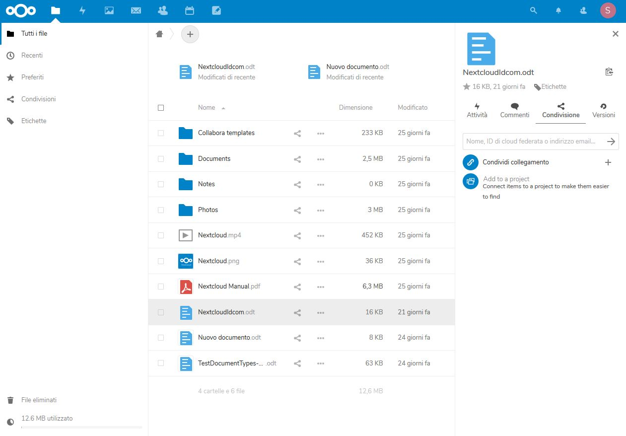 nextcloud share
